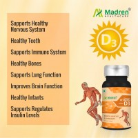 Vitamin D3 5000 IU Chewable Tablets for enhance Immunity, better function of Bones and Muscles by Madren Healthcare