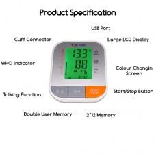 Dr. Odin Fully Automatic Digital Blood Pressure Monitor with Talking Function