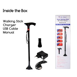 Dr.Odin Smart Walking Stick With Fm Radio , Siren & Torch 09