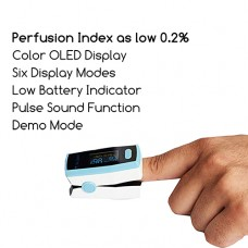 Dr. Odin Anti Shaking Fingertip Pulse Oximeter With OLED Display - Carry Case Included