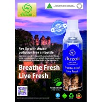 AUZAIR Imported  an Australian Brand Portable Oxygen Disposable Cylinder 7.5 Ltrs Breathe Fresh Live Fresh