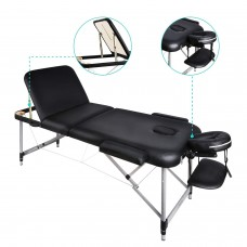 Portable Spa Foldable Aluminium Massage Table with Carring Bag 3 Section