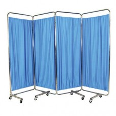 4 Fold Medical Bedside Screen