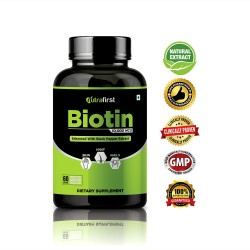 Nutrafirst Biotin for Hair Growth Improve Skin and Strengthens Nails Supplements 60 Capsules 10,000 Mcg