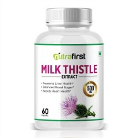 Nutrafirst Pure Milk Thistle extract to Support Liver Health - 60 Capsules (Pack of 1)