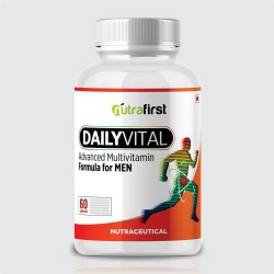 Nutrafirst Daily Vital Advance Multivitamin For Men| 60 Capsules 1000Mg (Pack of 1)