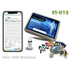 Hospitronics Tele ECG Machine 12 Channel (ET-U12),CE certified, 12 Lead ECG Machine with Cardiologist Reporting