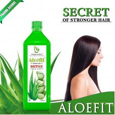 Pharma Science AloeFit Aloe Vera Juice  With Extra Fiber Organic Ingredients No Added Sugar Artificial Colours or Flavours-500ml