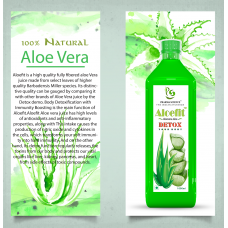 Pharma Science  Aloe Vera Juice with Pulp - An All-Round Tonic for Skin and Hair - 1L